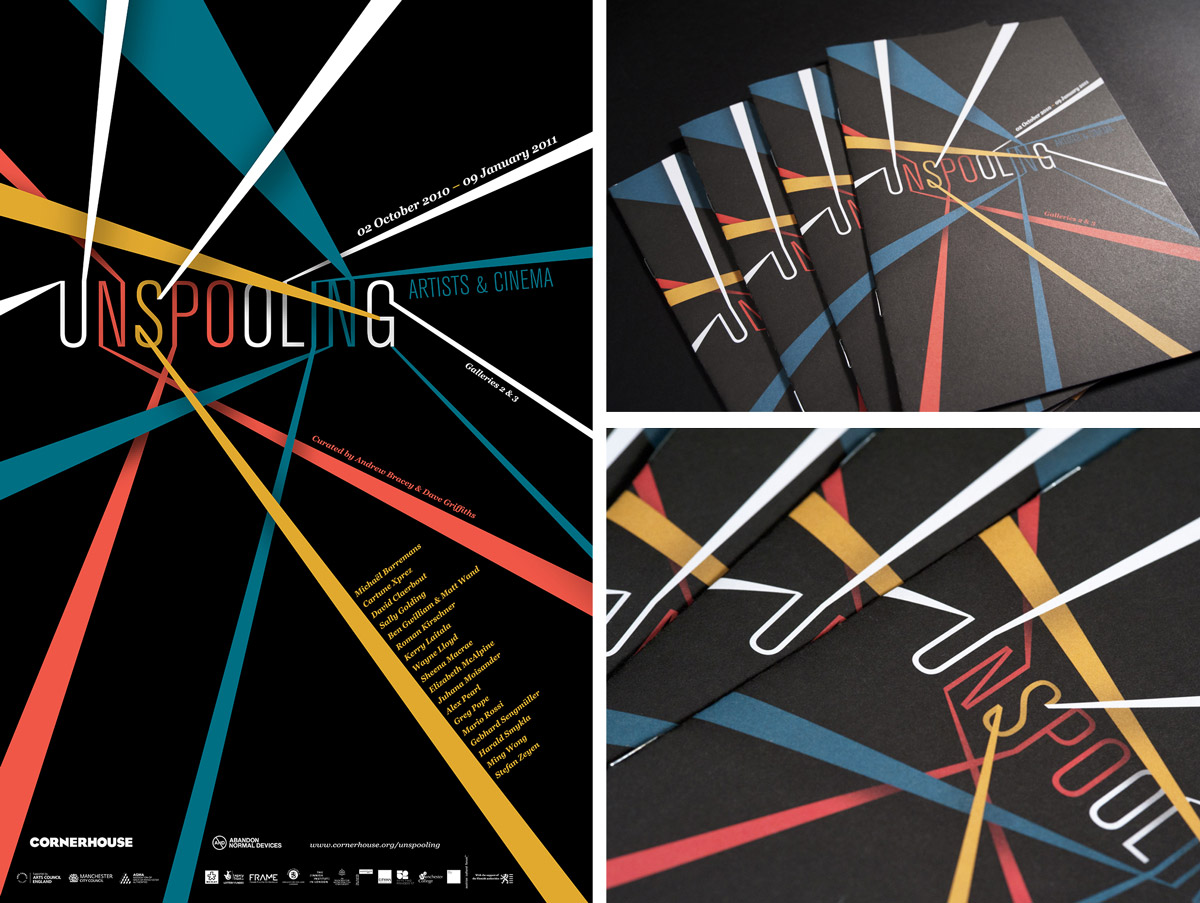 Unspooling branding poster gallery guide