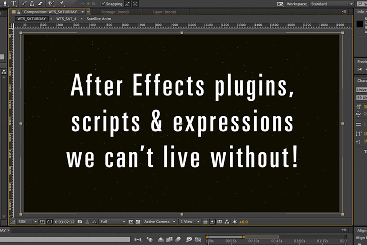 After Effects plugins scripts expressions