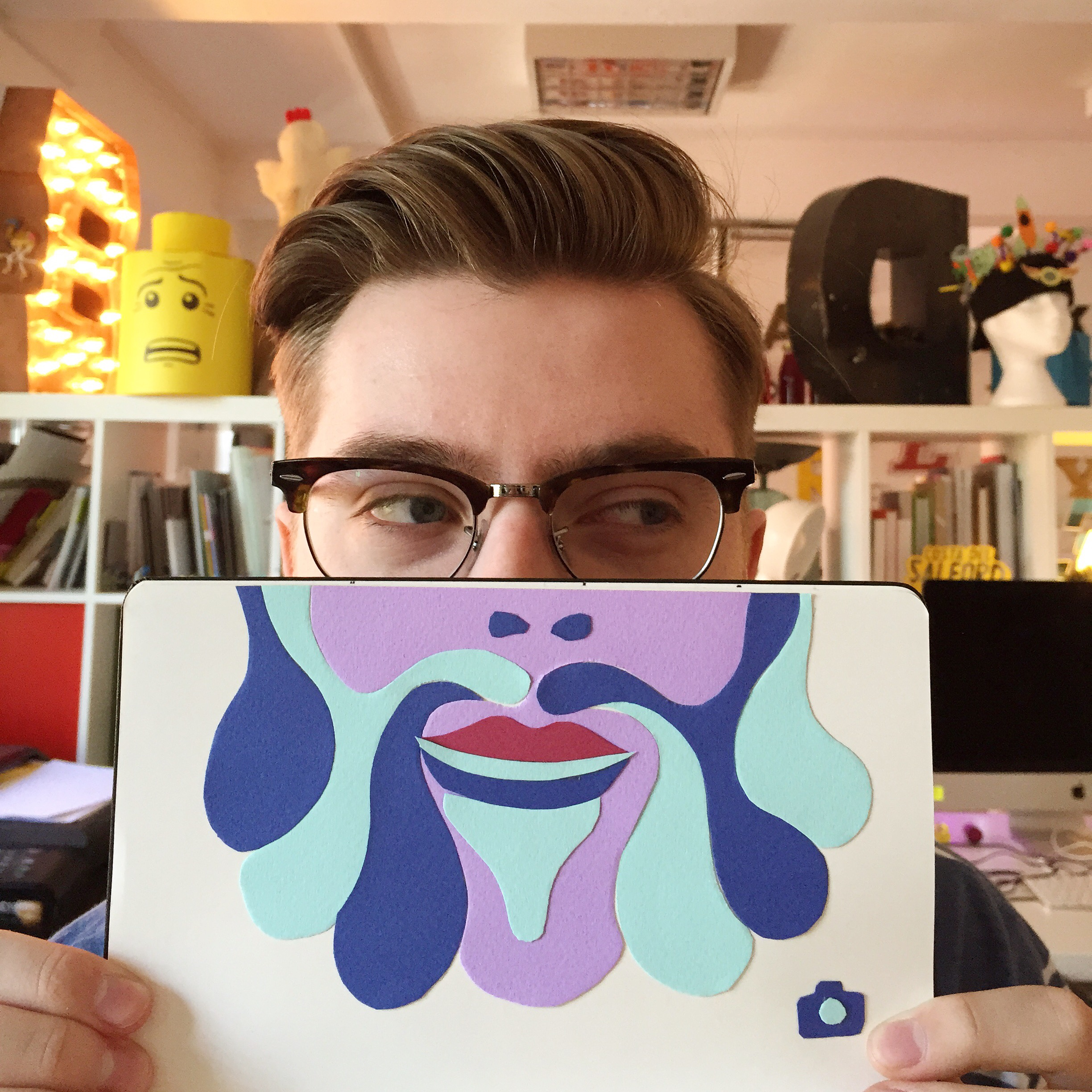 Psychedelic Selfies for Manchester Moleskine