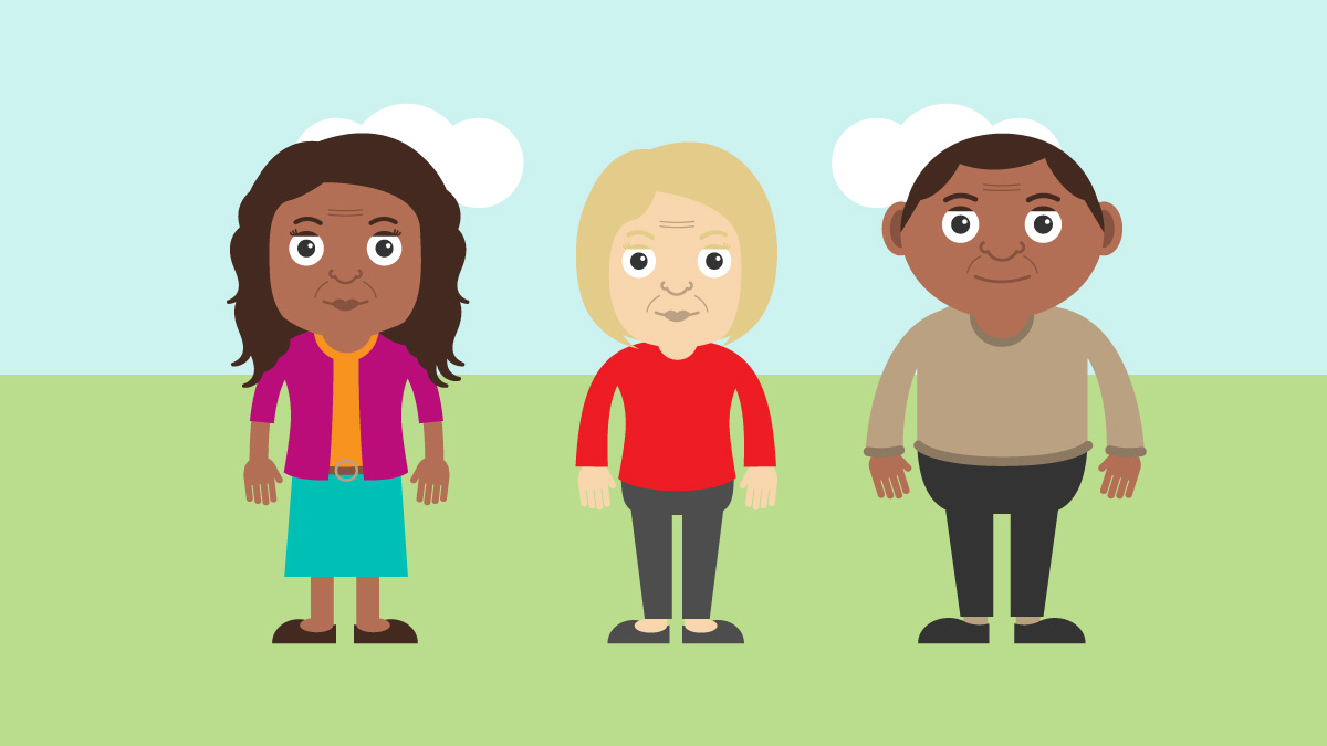 Join Dementia Research animation characters
