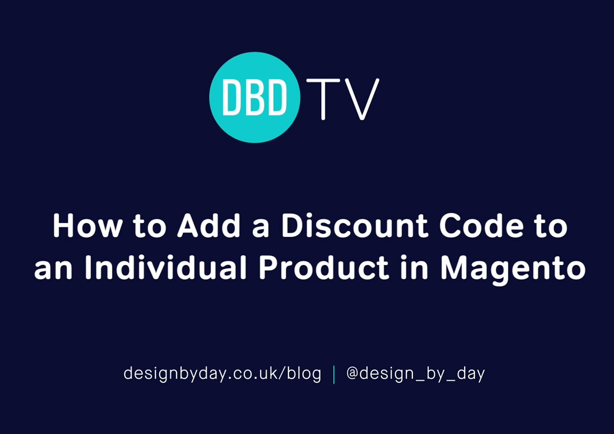 magento discount code for individual product ecommerce