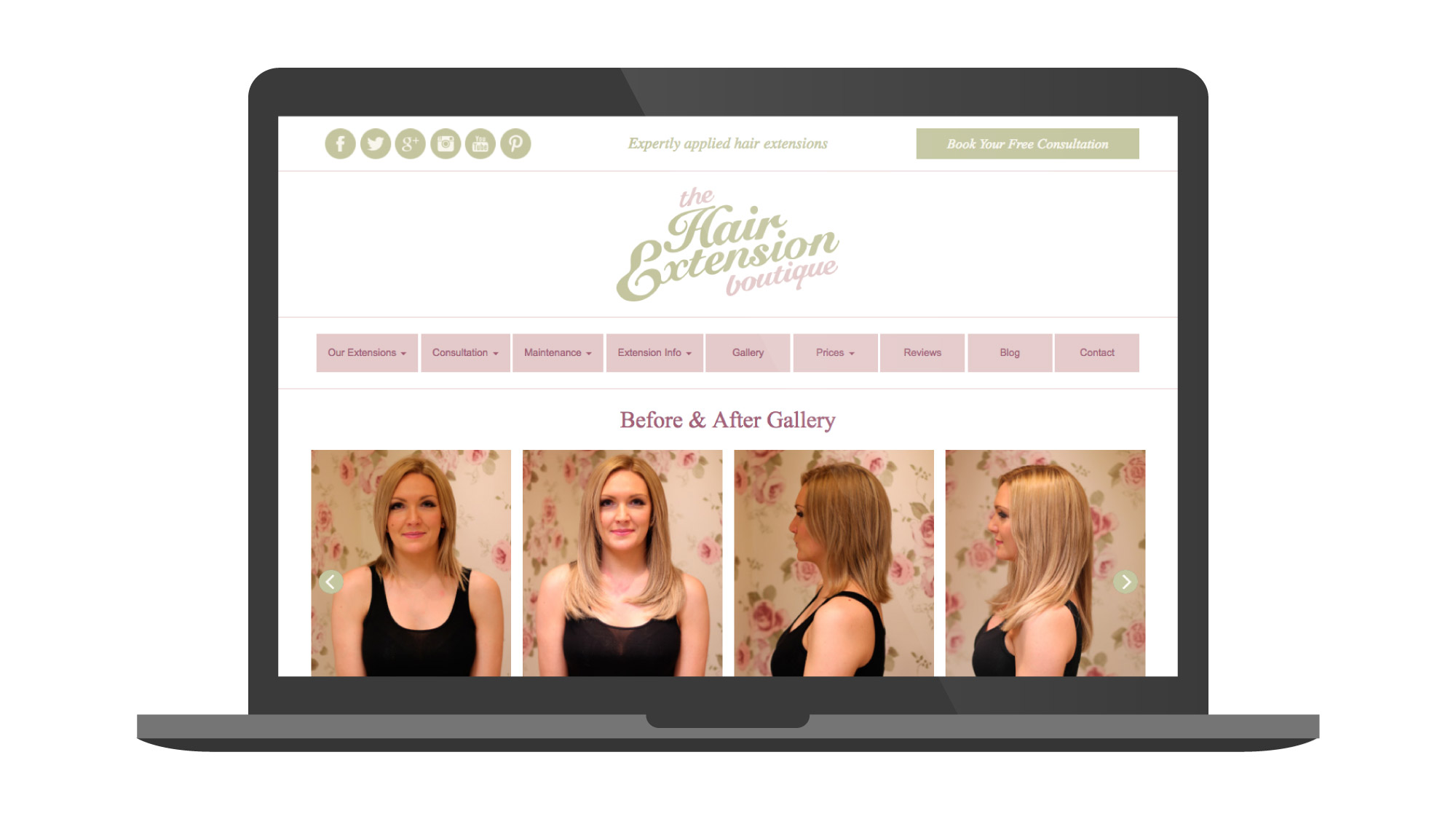 The Hair Extension Boutique Website
