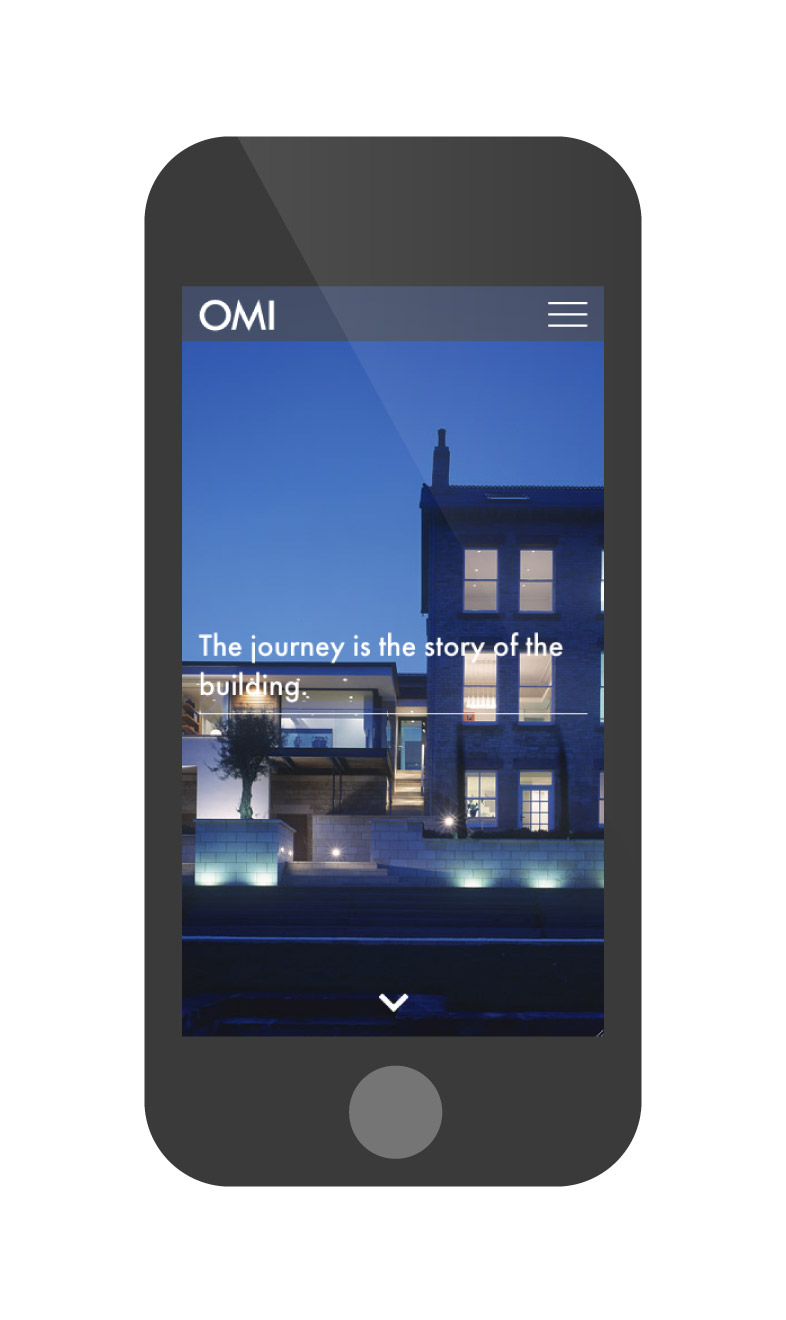 OMI Architects website iphone