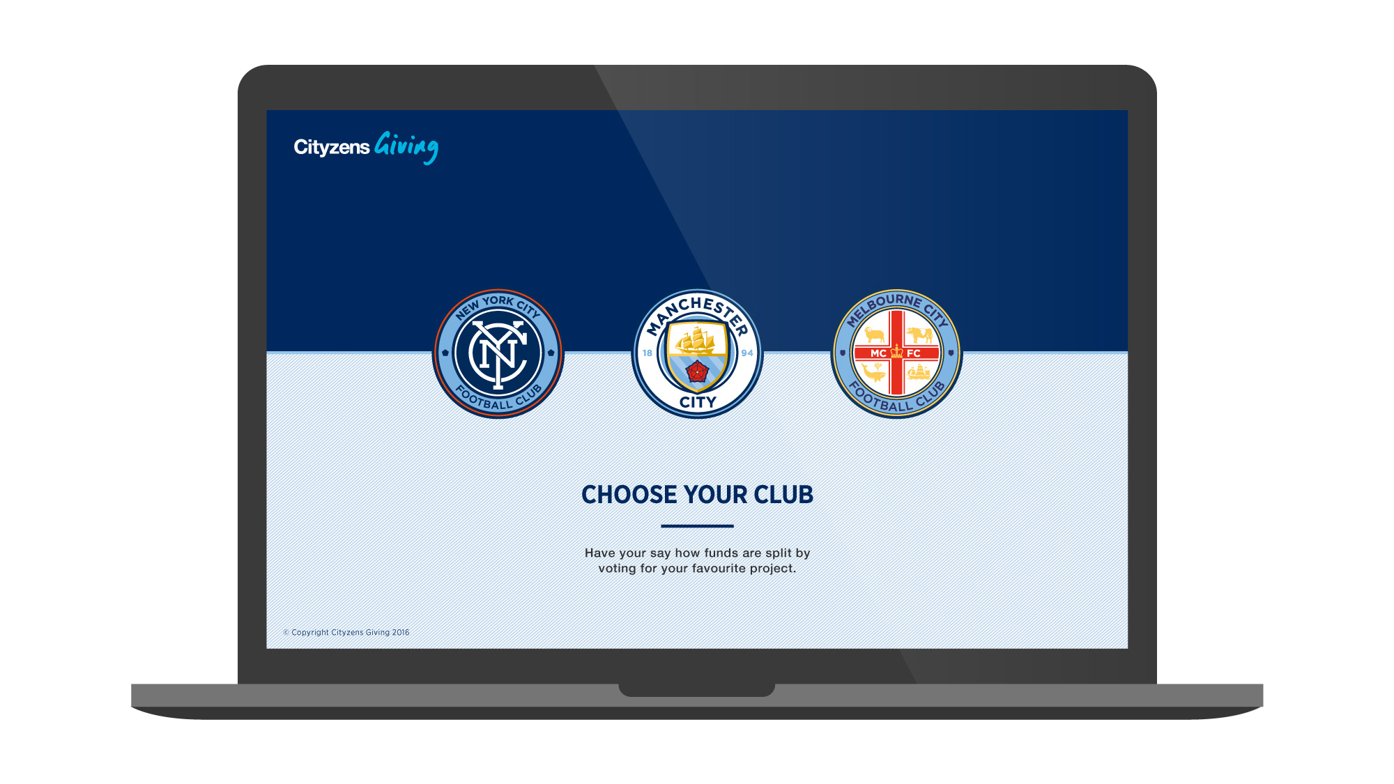 Manchester City FC Cityzens Giving Homepage