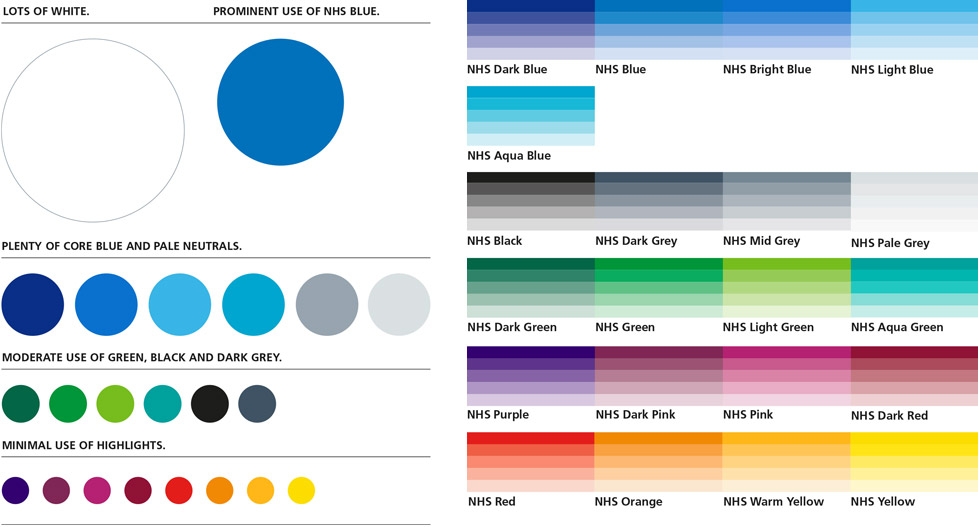 NHS colour palette