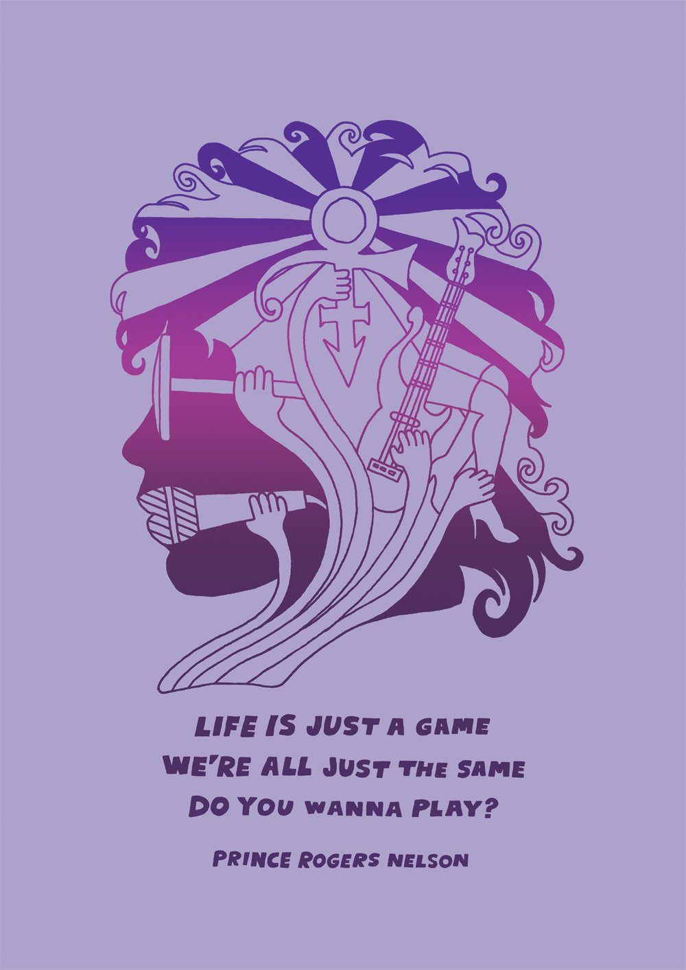 Prince limited edition screen print