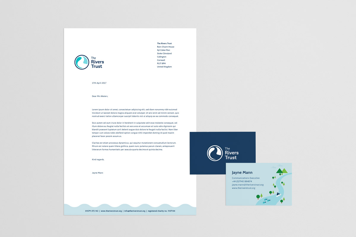 the rivers trust branded stationery